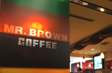 「MR BROWN COFFEE」店舗内